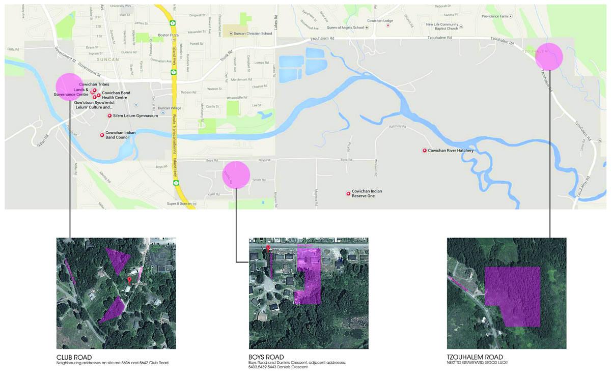 Cowichan Housing Sites_Map